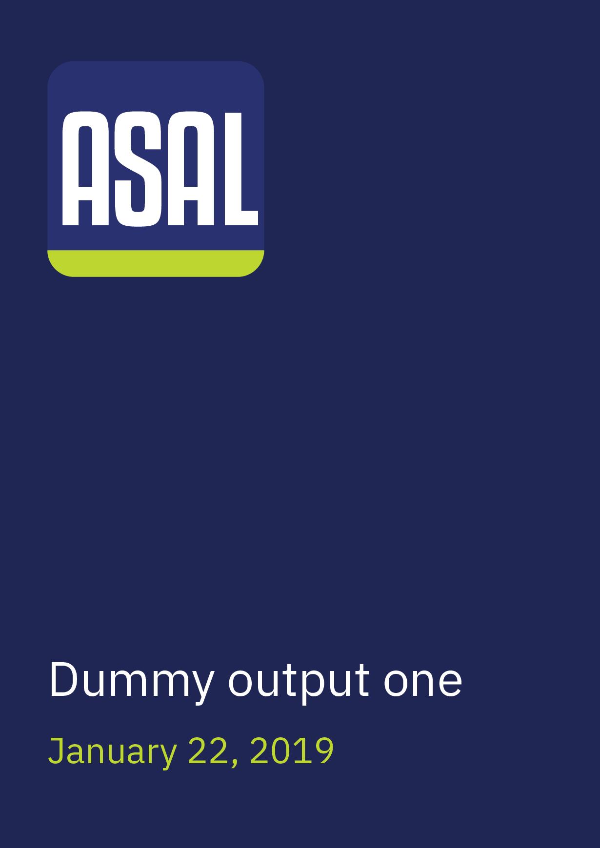 Dummy output one